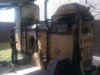 Train style wood kiln